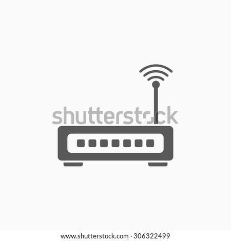 router icon - stock vector