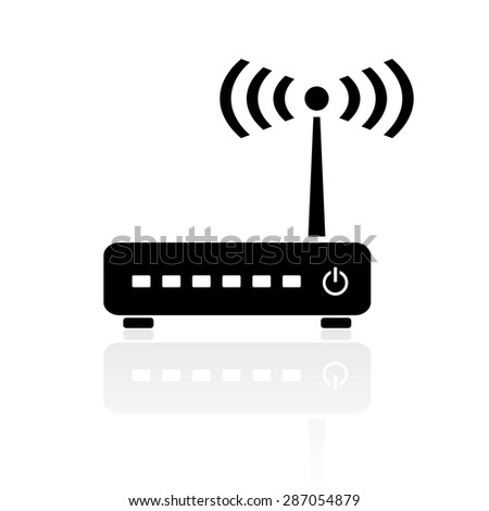 Router modem icon - stock vector