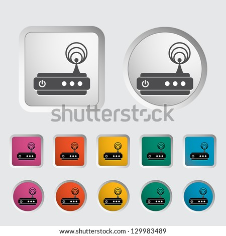 Router single icon. Vector illustration. - stock vector