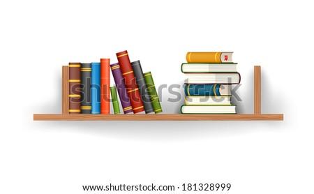 Books Shelf books on shelf stock images, royalty-free images & vectors