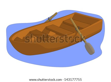 Row Boat - stock vector