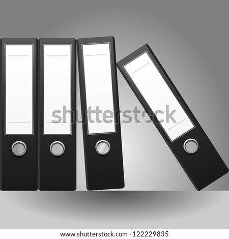 Row of binders vector - stock vector