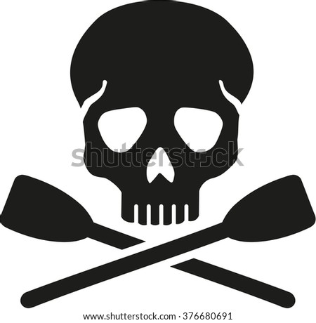 Rowing skull - stock vector