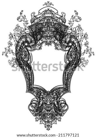 royal antique frame illustration - stock vector