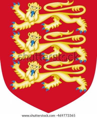 Royal Arms of England (1198-1340) - vector illustration.