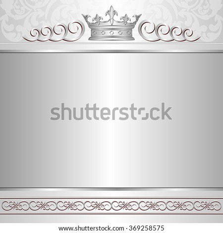 royal background with crown - stock vector