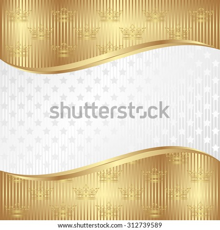 royal background with crowns and stars - stock vector
