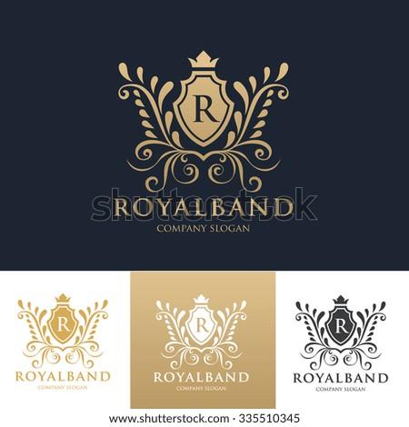 Royal Brand logo,crest logo,Hotel logo,vector Logo template - stock vector