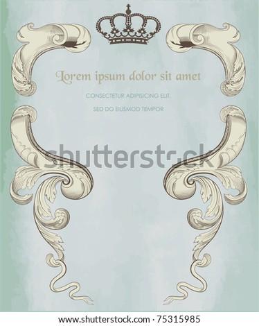 royal card - stock vector
