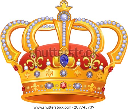 Royal Gold Crown - stock vector