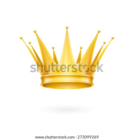 Royal golden crown isolated on a white background - stock vector