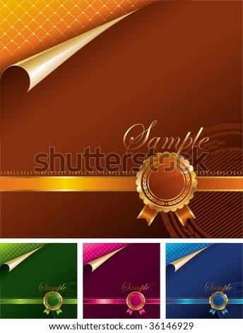 Royal golden seal - stock vector
