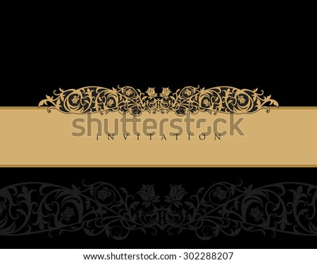 Royal invitation card template stock vector 302288207 shutterstock royal invitation card template stopboris Image collections