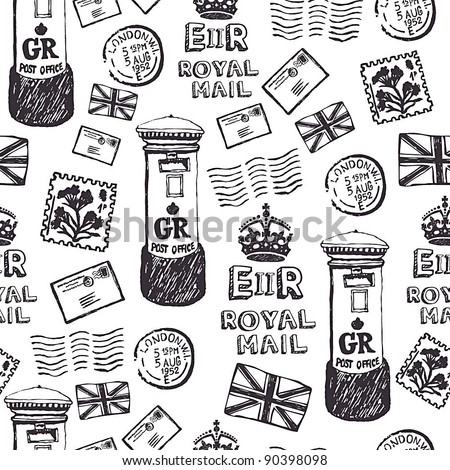 Royal mail pattern - stock vector