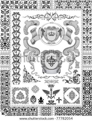 Royal ornaments - stock vector