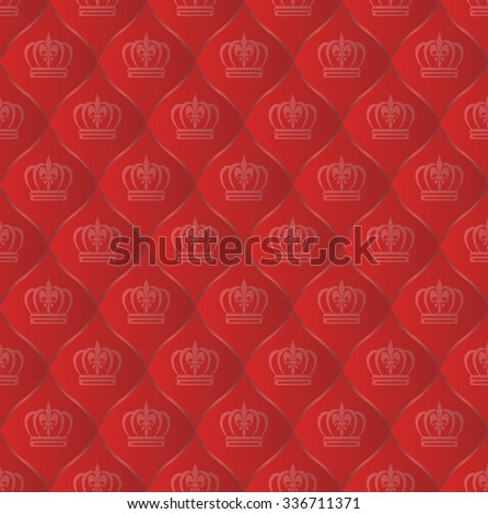 royal pattern seamless with crowns - stock vector