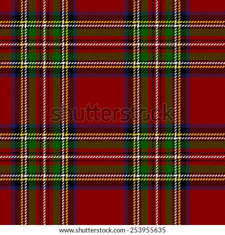 Royal Stewart Tartan. Seamless illustration. - stock vector