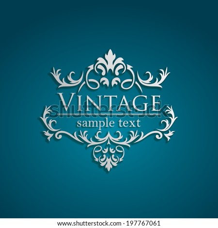 Royal Vintage Design in editable vector format