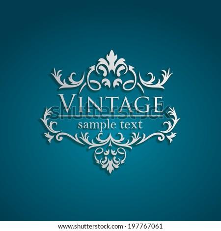 Royal Vintage Design in editable vector format - stock vector