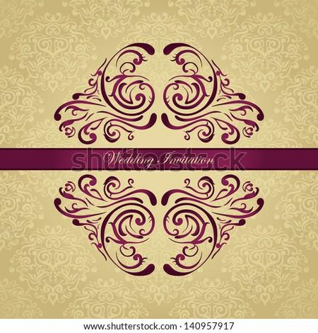 Royal wedding invitation on golden background stock vector royalty royal wedding invitation on golden background stopboris Gallery