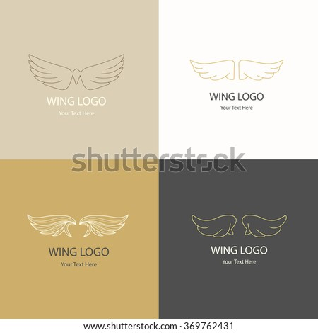 Royal Wing, Wing logo,royal logo,Vector Logo Template - stock vector