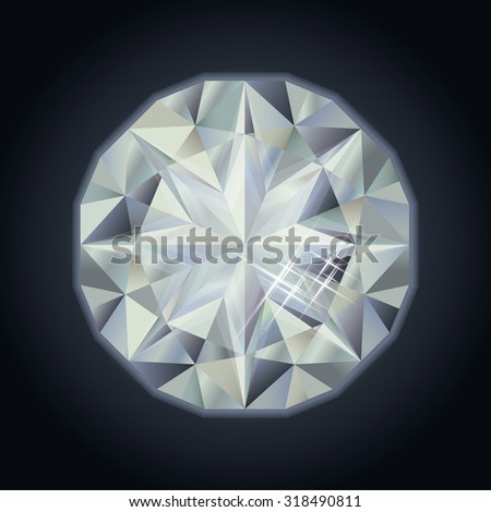 Royalty precious diamond, vector illustration