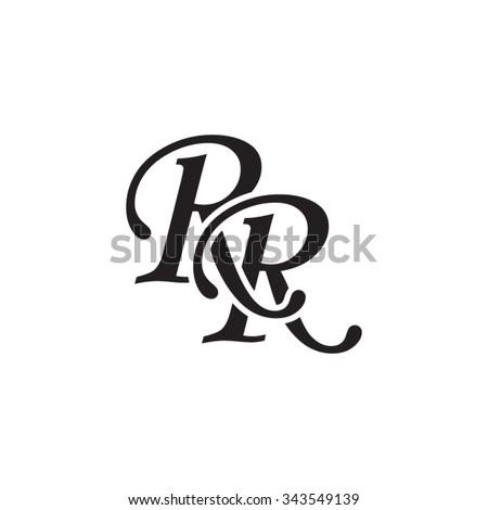 stock-vector-rr-initial-monogram-logo-343549139  Letter Circle Monogram Template on