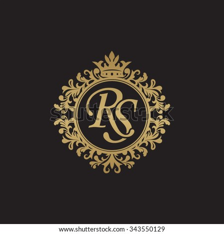 RS initial luxury ornament monogram logo