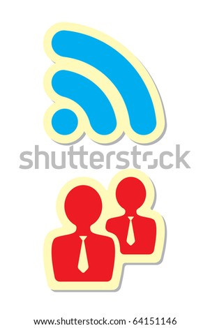 Rss and User Icons - stock vector