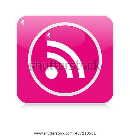 rss button - stock vector