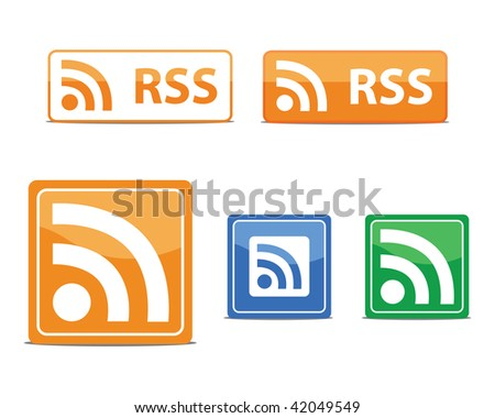 rss feed vectors - stock vector