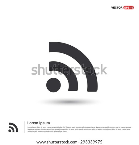 RSS icon - abstract logo type icon - isometric white background. Vector illustration - stock vector