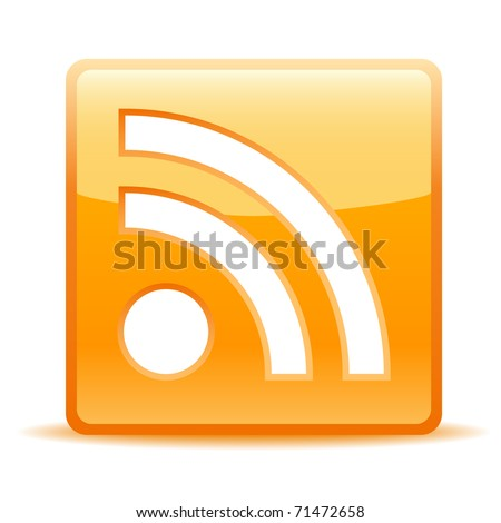 rss icon for website or weblog - stock vector