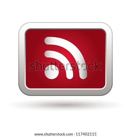 Rss icon. Vector illustration - stock vector