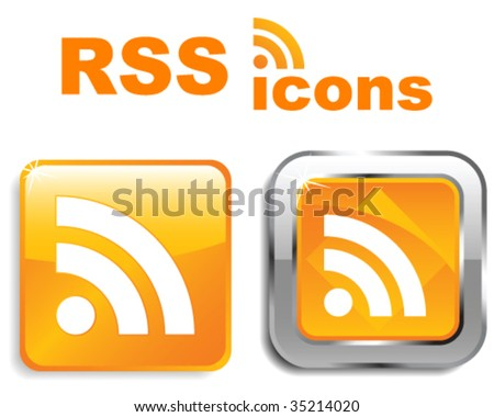 RSS icons - stock vector
