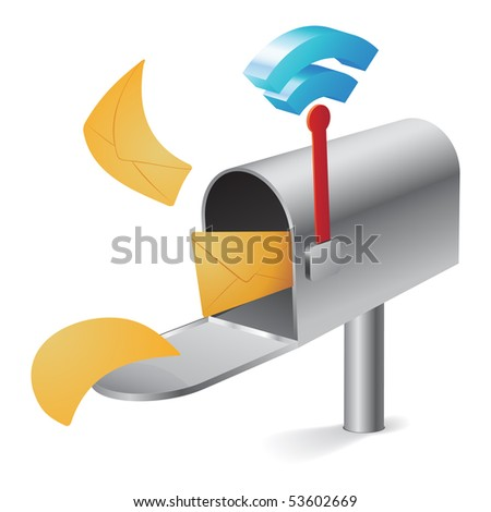 Rss mailbox concept - stock vector