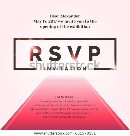 rsvp template for event - vip invitation stock images royalty free images vectors