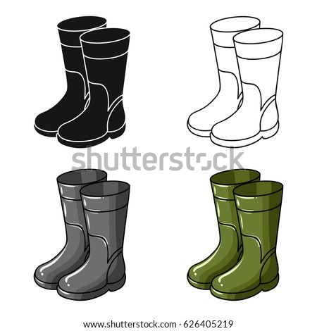 Rain boots stock images royalty free images vectors for White fishing boots
