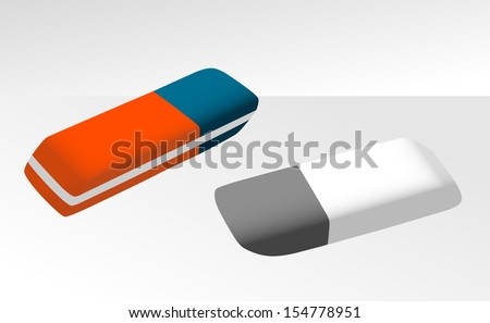 Rubber erasers eps10 - stock vector
