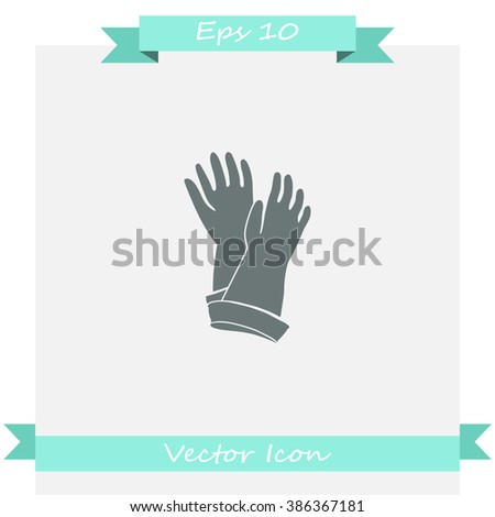 Rubber gloves for cleaning icon.