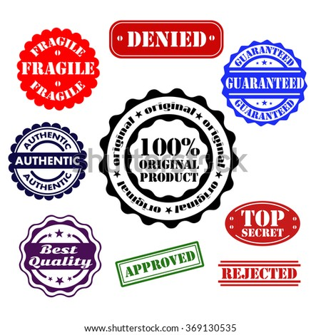 Rubber stamp collection vector, - stock vector