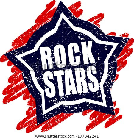 Rubber stamp Rock stars - stock vector