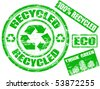 Rubber stamp series - recycling. See other rubber stamp collections in my portfolio - stock vector