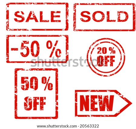 Rubber stamp series - sales - stock vector