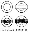 rubber stamp template set - stock photo