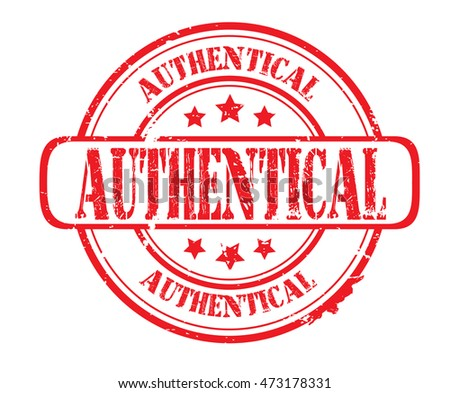 "rubber stamp with text ""authentical"" on white, vector illustration"