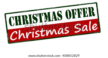Rubber stamp with text Christmas offer inside, vector illustration - stock vector