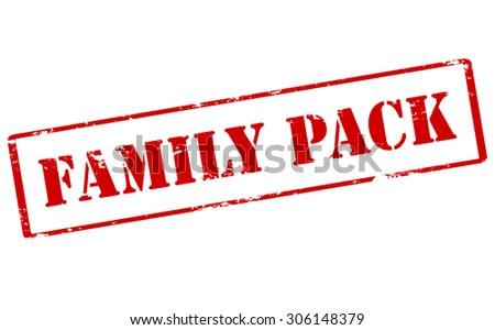 Rubber stamp with text family pack inside, vector illustration