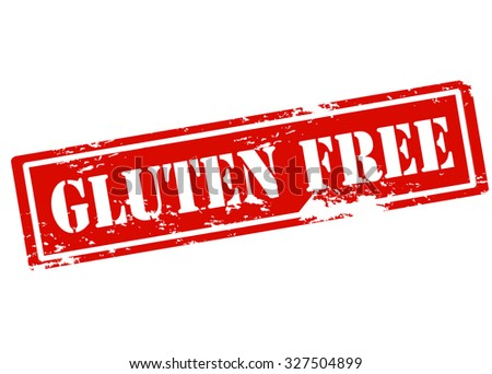 Rubber stamp with text gluten free inside, vector illustration