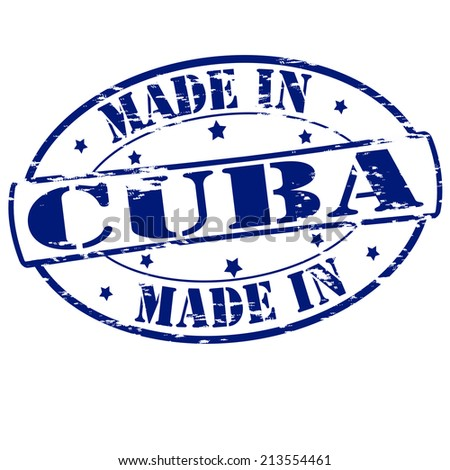 Rubber stamp with text made in Cuba inside, vector illustration - stock vector